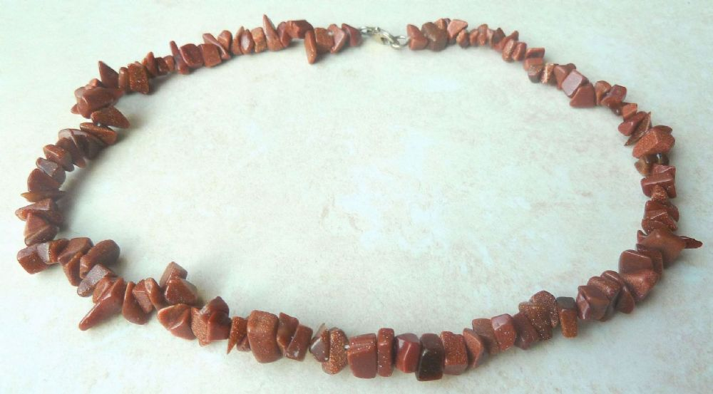 goldstone p necklace asp beaded